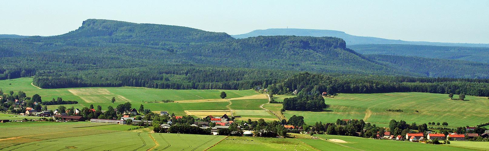 Decinsky Sneznik 723 Meter und Großer Zschirnstein 560 Meter