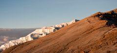 Decken Gletscher im Morgenlicht