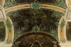 Deckenansicht der Stiftskirche St. Gallen