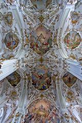 Deckenansicht im Kloster Andechs