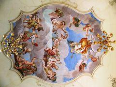 Deckengemälde im Rokokosaal des Landhauses Studnitz in Günthersleben-Wechmar