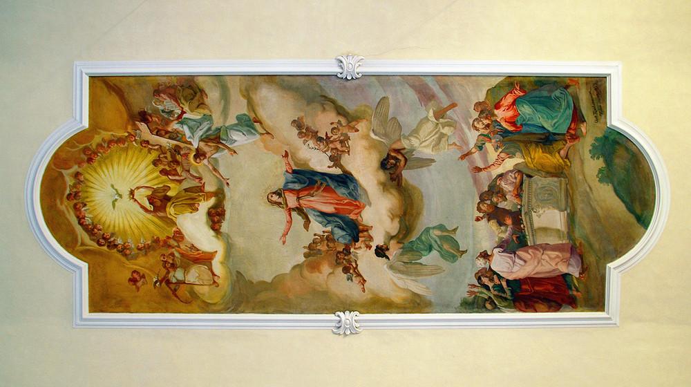 Deckengemälde in der Pfarrkirche St. Verena zu Fischen im Allgäu