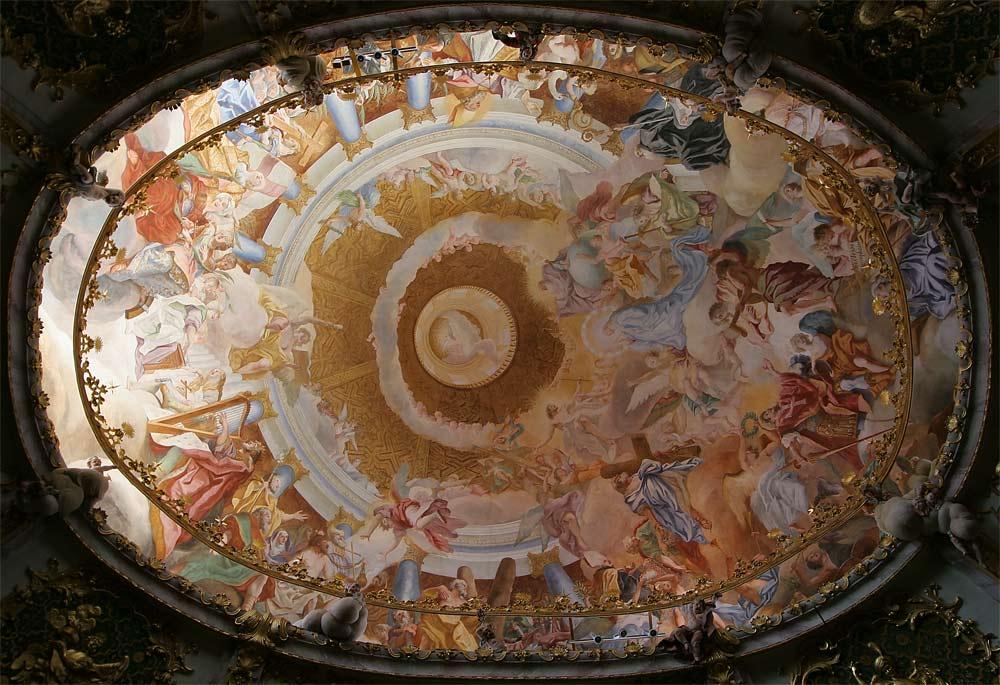 Deckengemälde vom Kloster Weltenburg
