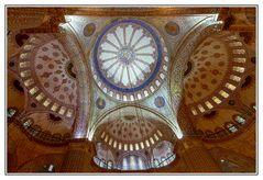 Deckengewölbe der Blauen Moschee