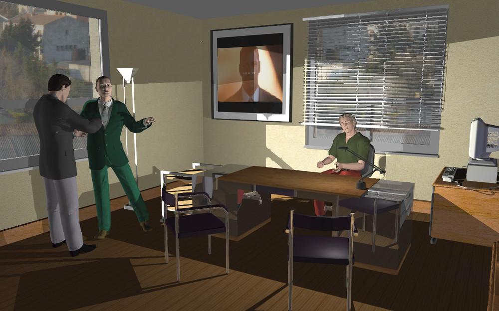decor de scene bureau photo et image graphisme 3d. Black Bedroom Furniture Sets. Home Design Ideas