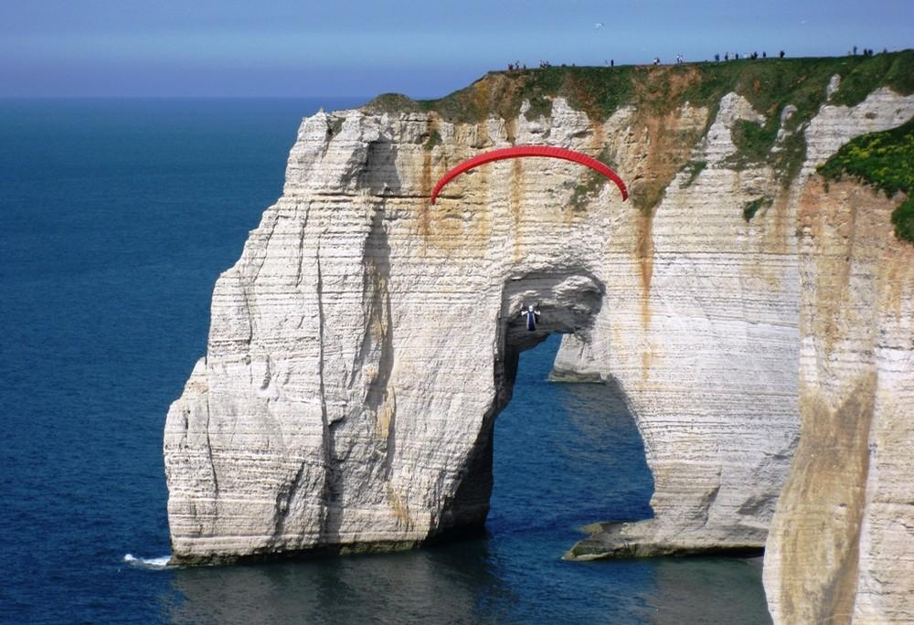 Découvrir les falaises en cerf volant