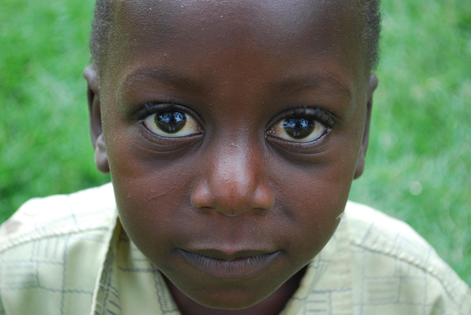 deep black eyes