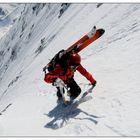 deep steep snow