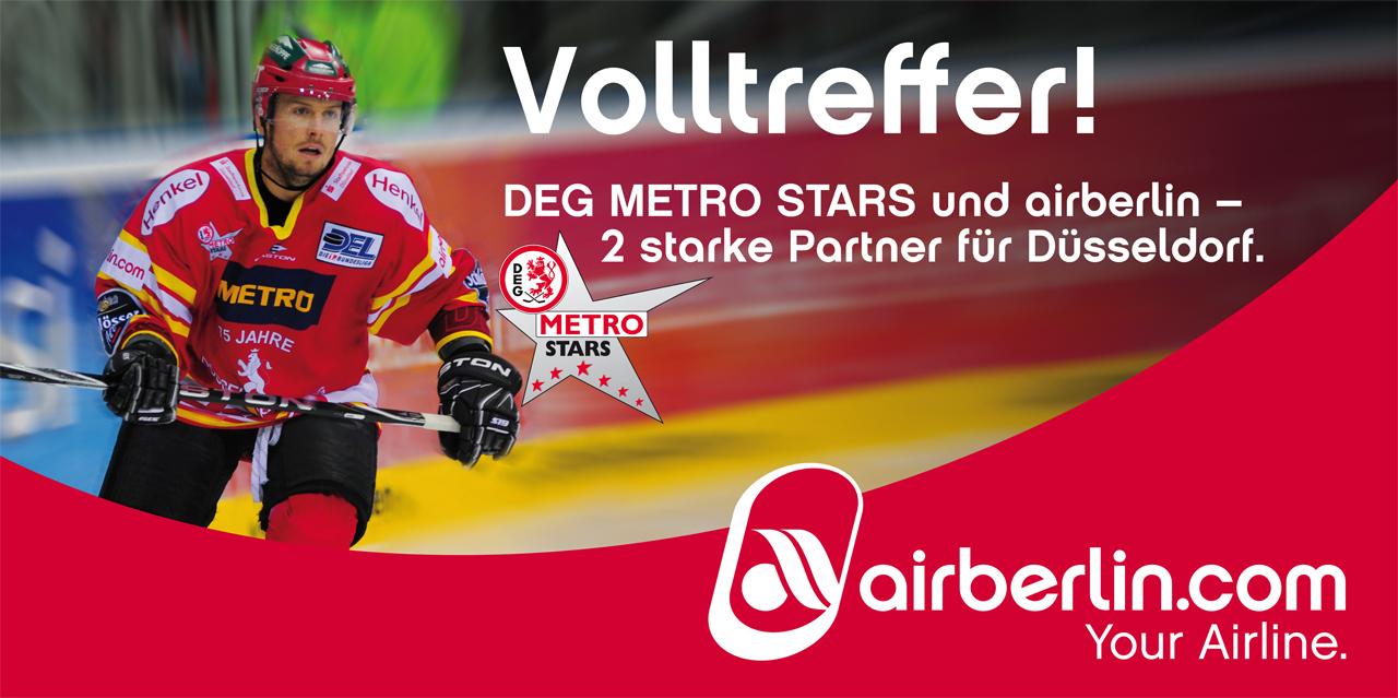 DEG Metro Stars und Airberlin