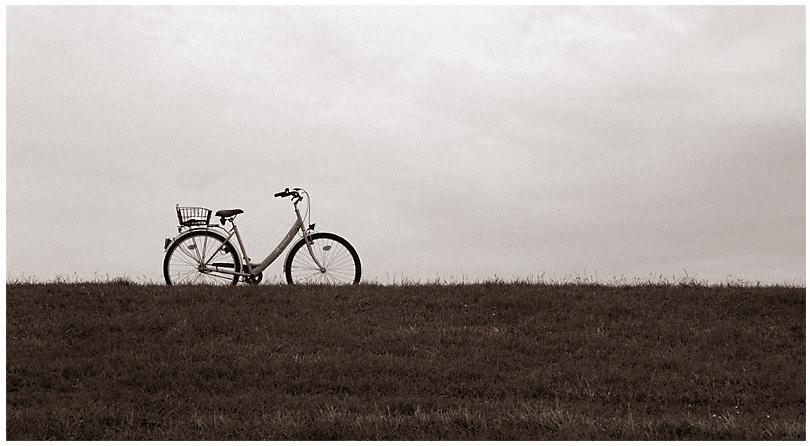 Deich ... Fahrrad ... Himmel