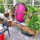 Deko in einem Gartenlokal