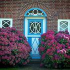 Dekorative Eingangstür in Kampen