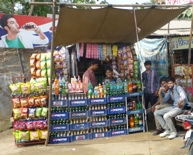Delhi- typical street view