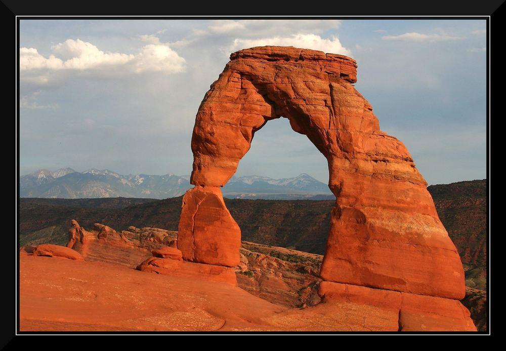 Delicate Arch mit Rand
