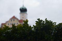 Delitzscher Schloss vom Schlossgarten aus fotografiert