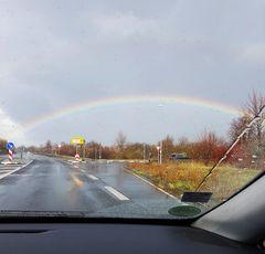 dem Regenbogen entgegen