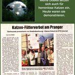 Demo gegen das Fütterverbot von herrenlosen Katzen