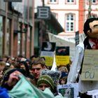 Demo in FFM gegen Pelzträger...