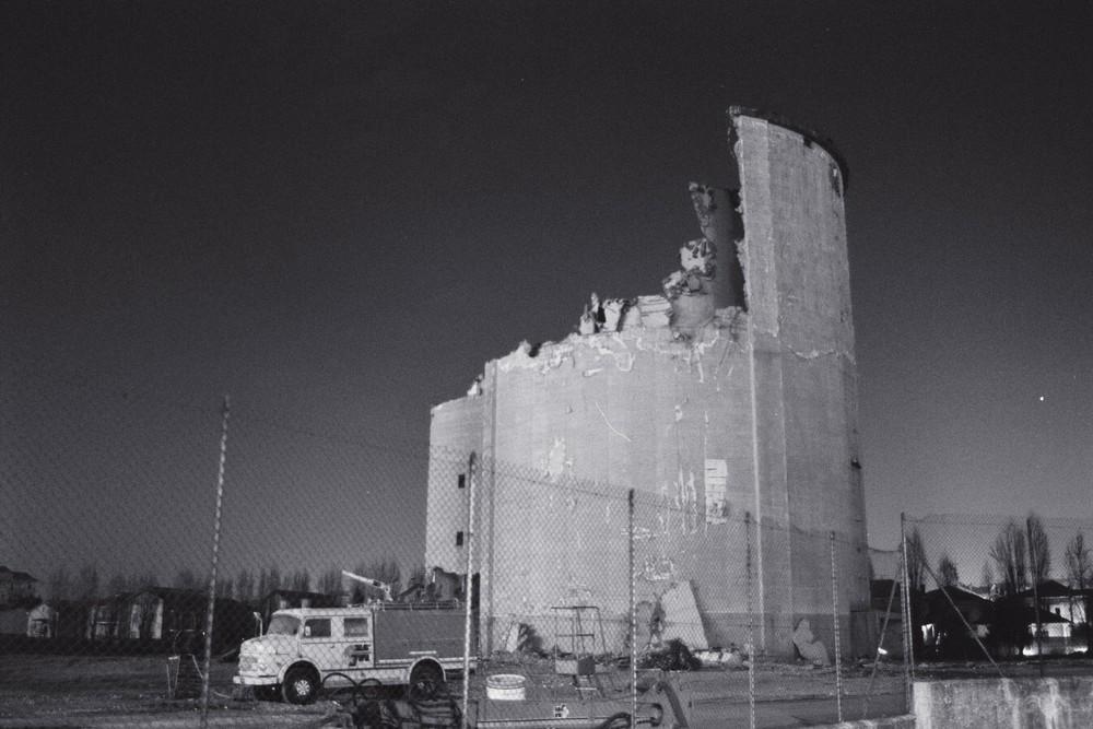 Demolizione silos ex Interzuccheri (Night shot)