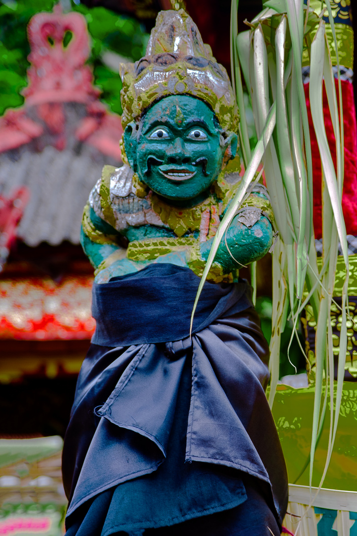 Demon statue in the village temple