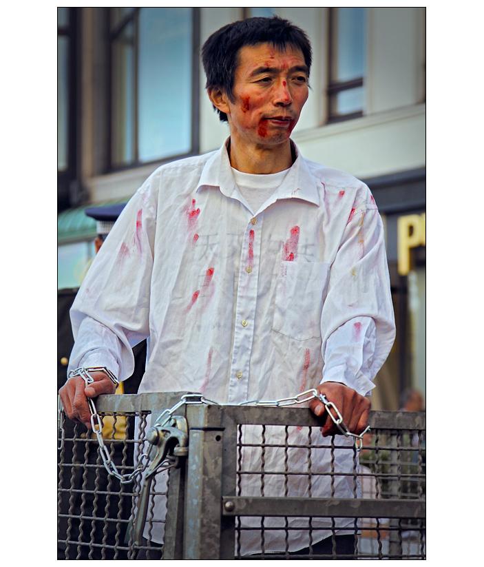 Demonstration gege Folter...