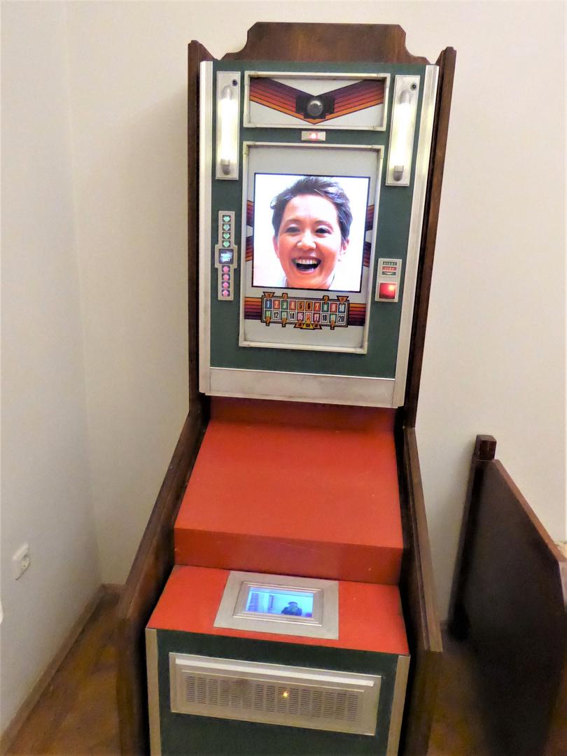 Den alten Spielautomat....