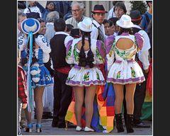 Den Gästen aus Bolivien ...