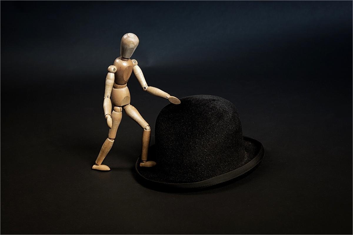 Den Hut aufhaben ...