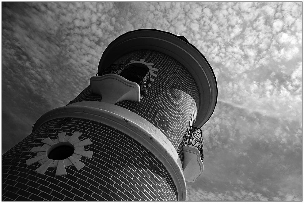 Den Leuchtturm hinauf...