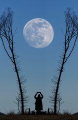 Den Mond halte ich mir fest