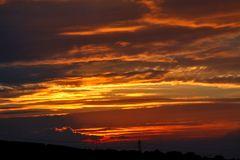 Den prächtigen Sonnenuntergang bis zum letzten Sonnenzipfel...