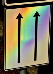 Den Regenbogen zweispurig durchfahren!