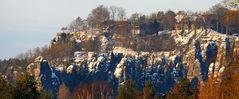 Den Schnee auf der Bastei musste ich am letzten Tag vor dem Tauwetter...