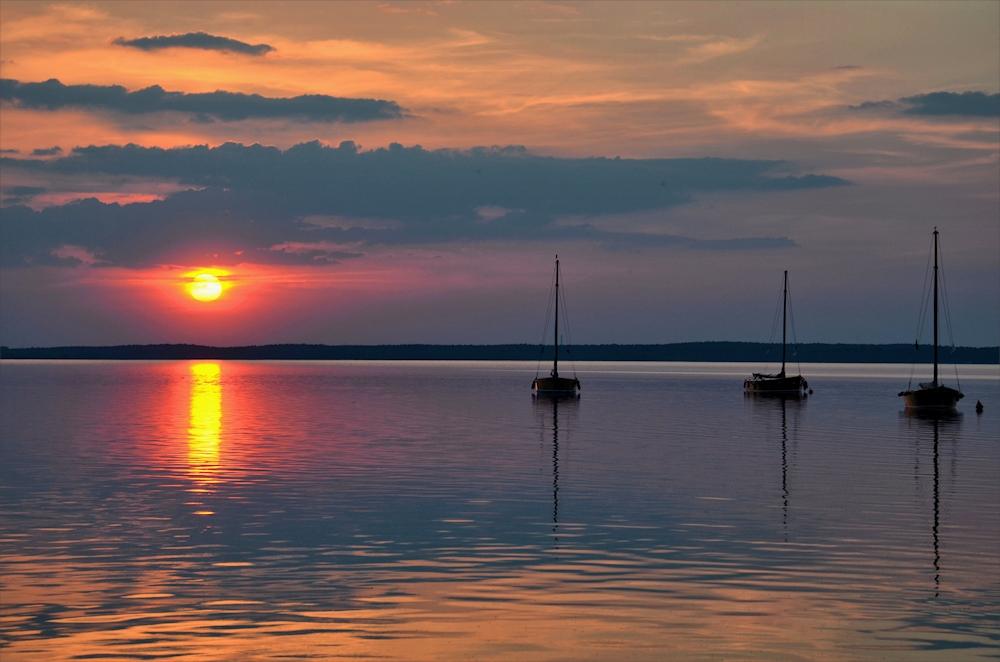 den Sonnenuntergang..