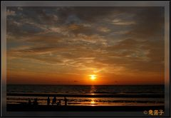 Den Sonnenuntergang geniessen ..