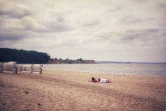 Den Strand für sich haben