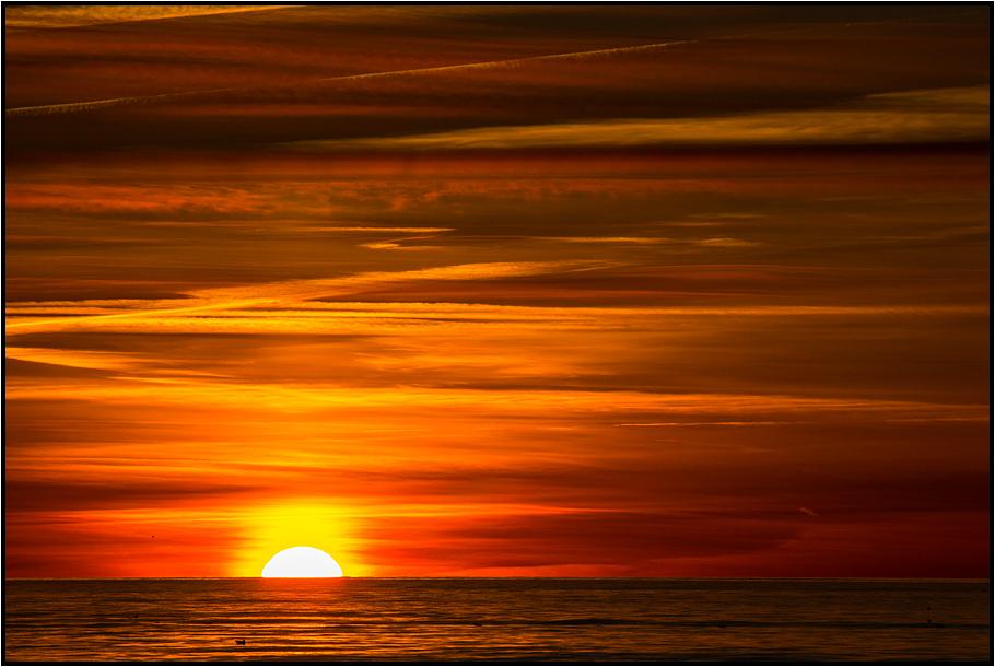 Denmark   autumn sunset  