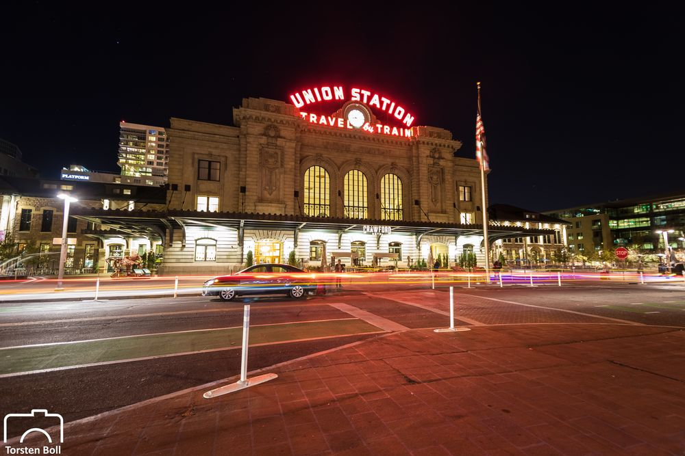 Denver Union Station  by Night