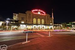 Denver Union Station  by Night