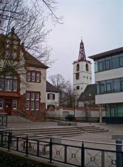 Denzlingen: Altes Rathaus, Georgskirche, neues Rathaus
