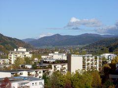 Denzlingen: Blick nordostwärts ins Elztal und zum Hörnleberg