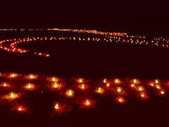 Denzlingen: Nächtliche Lichterkette im Stadtpark