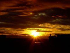 Denzlingen: Sonnenuntergang