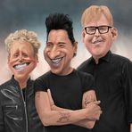 Depeche Mode Karikatur [www.luebbi-art.de]