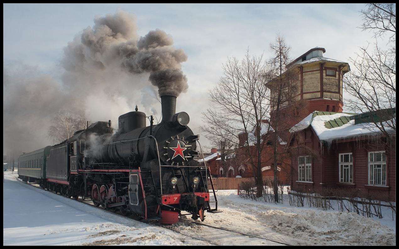 "Depot `'Podmoskovnaya"" arrival of the train"