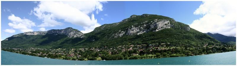 Depuis le lac d'Annecy : massif des Bauges