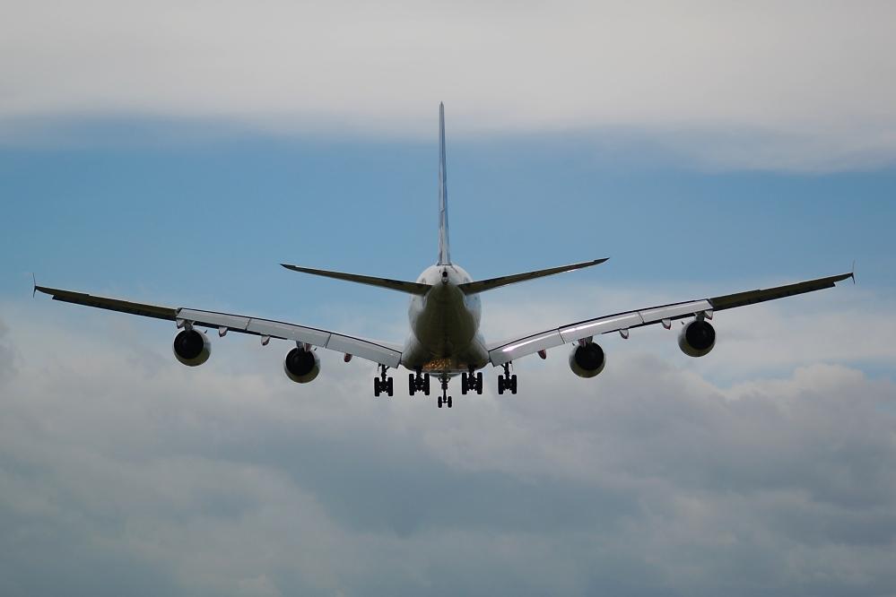 Der A 380 im Landeanflug