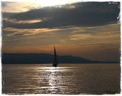 Der Abendsonne entgegen