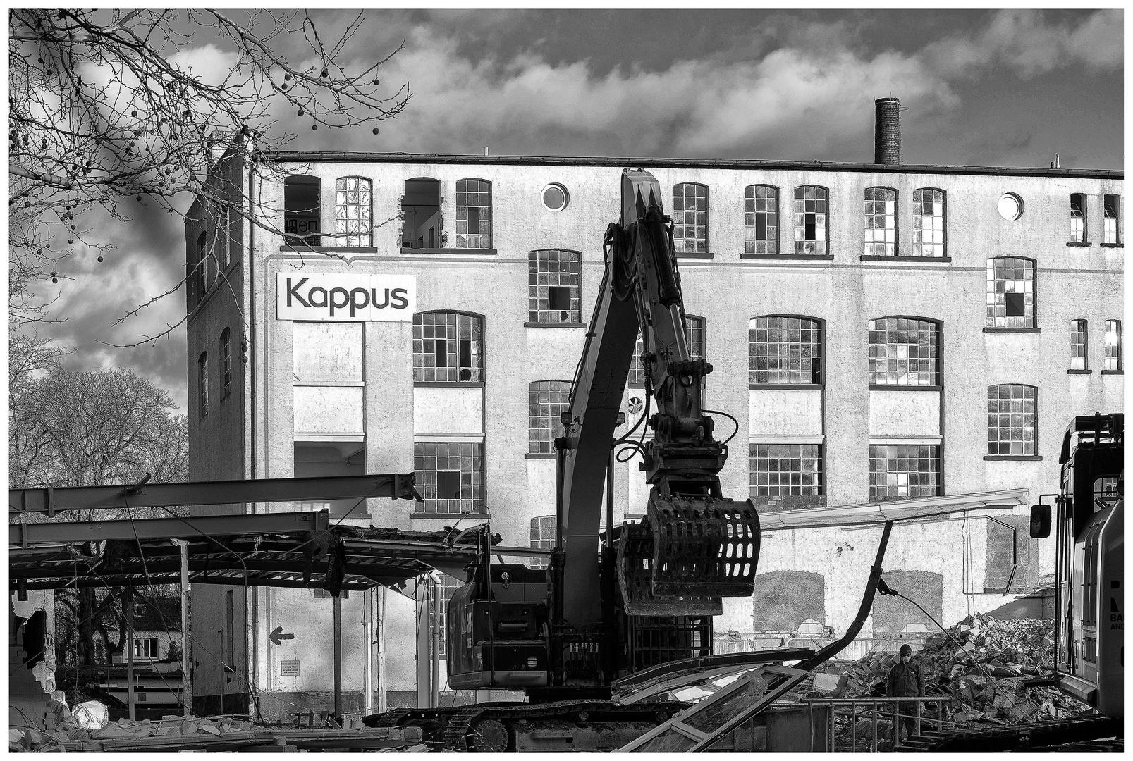 Der Abriss der altwürdigen Seifenfabrik Kappus in Offenbach