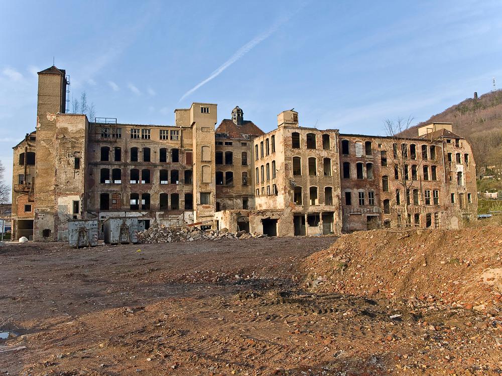 Der Abriss des VEB Vereinigte Lederwerke in Freital